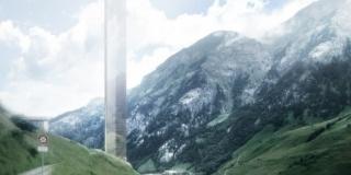 Une tour de 381m de haut dans les Alpes suisses